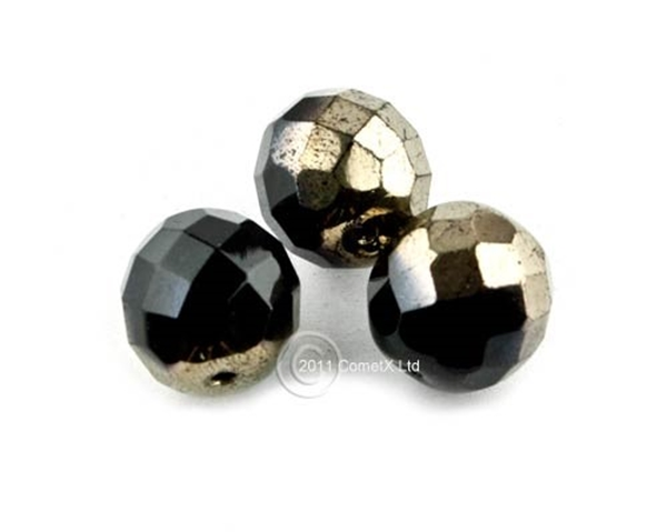 Picture of BlackGold Faceted Glass - 12mm (PK 10)