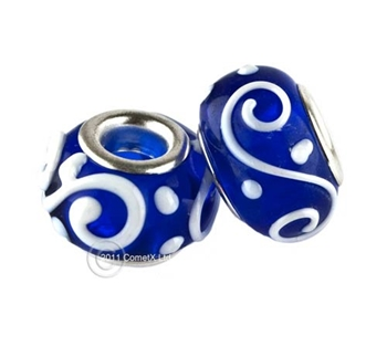 Picture of Pandora Style - Dark Blue Swirl (Pk 2)