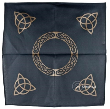 Picture of Altar Cloth - Black With Triquetra (44 x 44cm)
