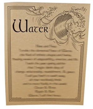 Picture of Water Evocation - Quick Reference Guide (A4)