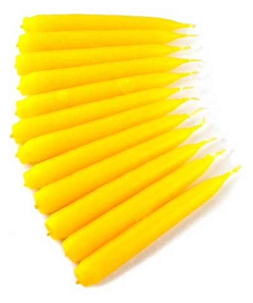 Picture of Spell Candles (Yellow) - Traditionally Dipped (Pk 12)