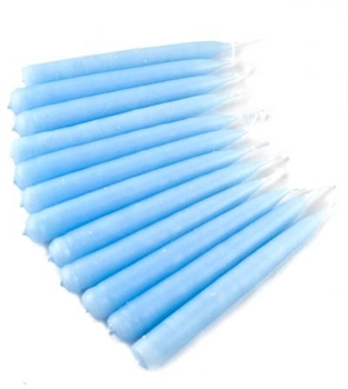 Picture of Spell Candles (Light Blue) - Traditionally Dipped (Pk 12)
