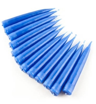 Picture of Spell Candles (Dark Blue) - Traditionally Dipped (Pk 12)