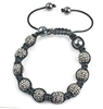 Picture of Shamballa Style Bracelet - Pewter (9x10mm Star Balls)