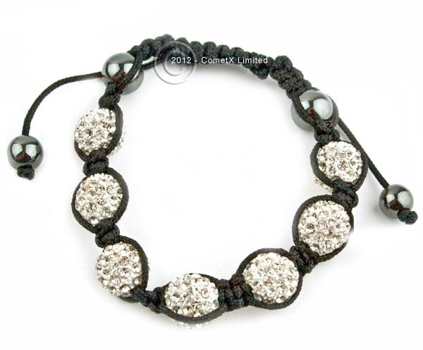 Picture of Shamballa Style Bracelet - Ice (7x12mm Star Balls)