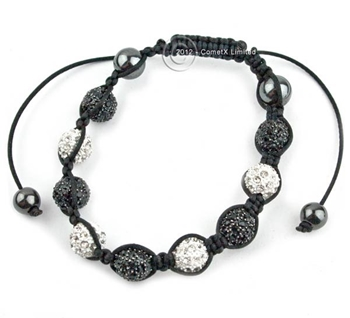 Picture of Shamballa Style Bracelet - Ice (9x10mm Star Balls)