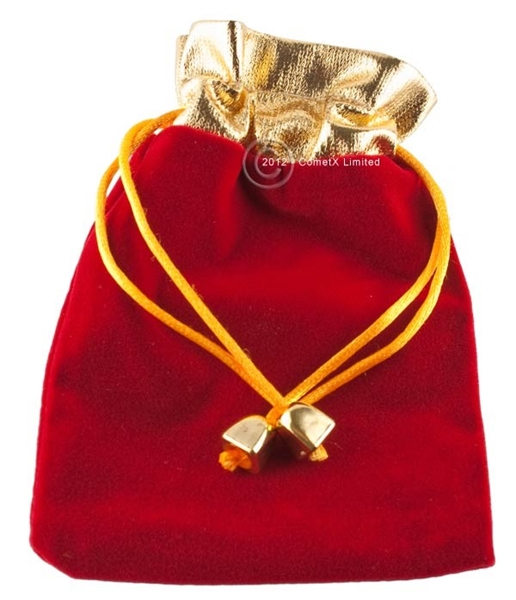 Picture of Velveteen Pouch (RedGold) - 10 x 14cm