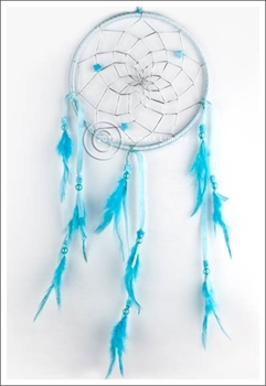 Picture of Dream Catcher with Stars - Blue Ribbon (15.5cm)