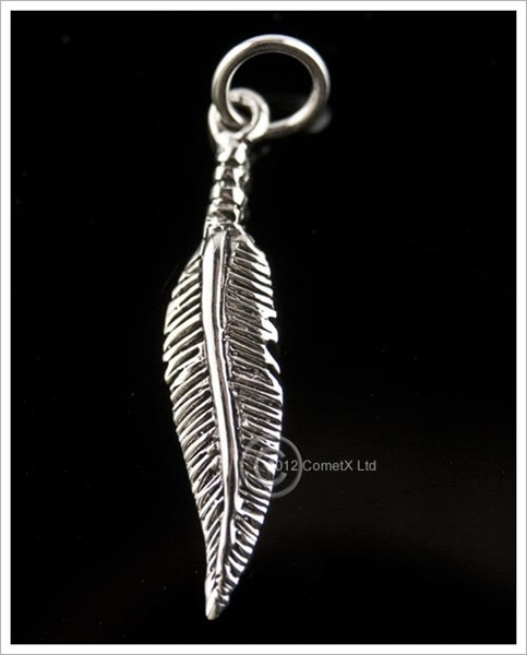 Picture of Feather CharmPendant - Sterling Silver