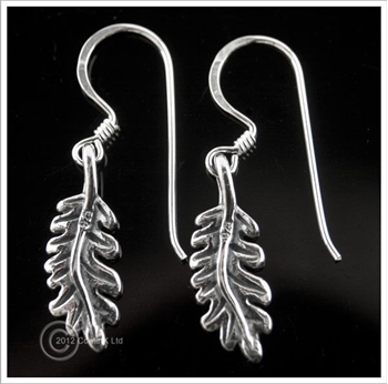 Picture of Oak Leaf Earrings - Sterling Silver