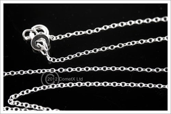 Picture of Round Curb Chain (Light) - 18 inch (Sterling Silver)
