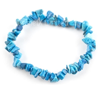 Picture of Blue Howlite (Dyed)- Gemstone Chip Bracelet