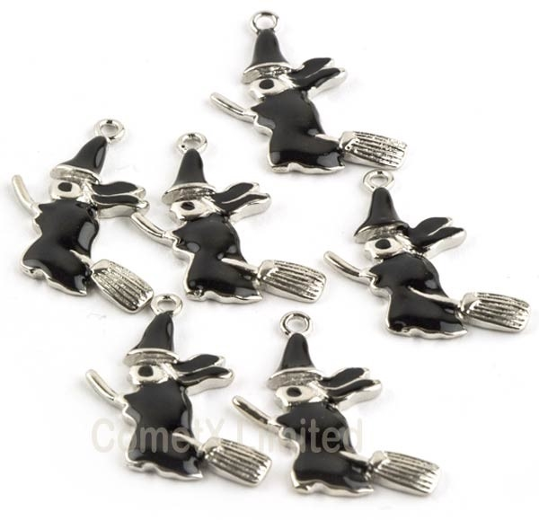Picture of Witch On Broomstick Charm - Pack of 6