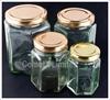 Picture of Glass Jar (Hexagonal) - Medium