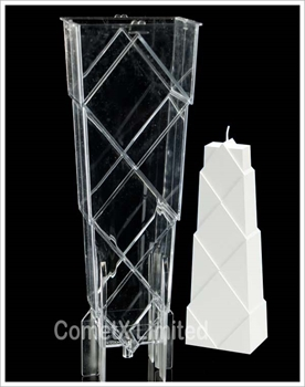 Picture of Diamond Blocks Pyramid Mould - Polycarbonate