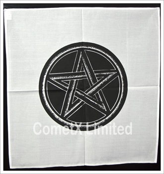 Picture of Altar Cloth - White With Pentacle (44 x 44cm)