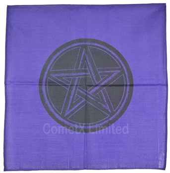 Picture of Altar Cloth - Purple With Pentacle (44 x 44cm)