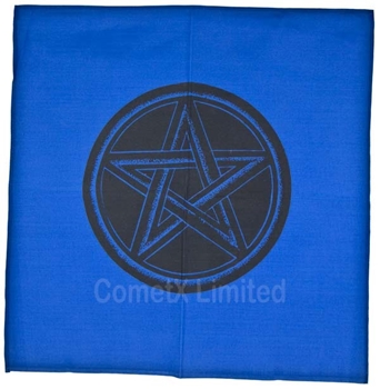 Picture of Altar Cloth - Blue With Pentacle (44 x 44cm)