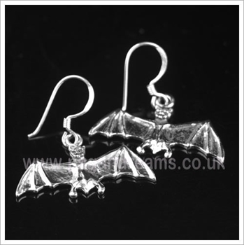 Picture of Bat Earrings - Sterling Silver