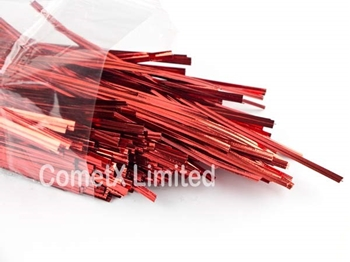 Picture of Twist Ties - Christmas Red (6) - Pack of 500
