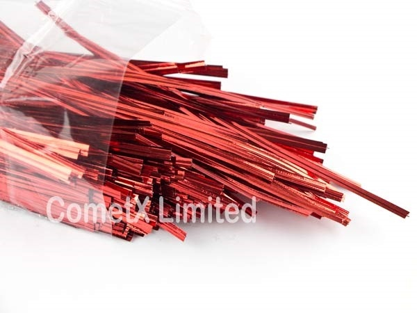 Picture of Twist Ties - Red (4) - Pack of 500