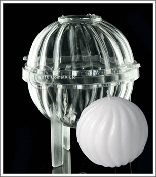 Picture of Fluted Sphere Candle Mould - Polycarbonate (70mm)