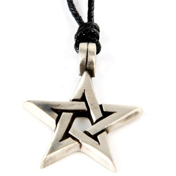 Picture of Open Pentagram Pendant (Chunky) - Pewter