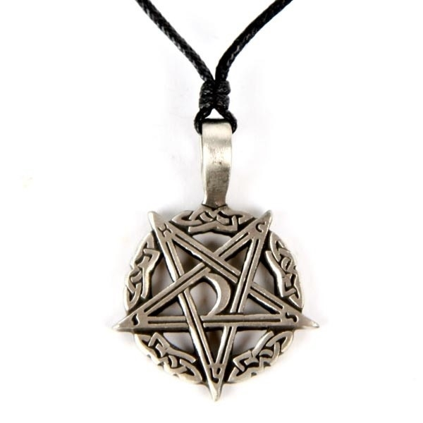Picture of Pentagram And Moon (Inverted) - Pewter