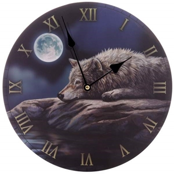 Picture of Clock - Wolf (Quiet Night)