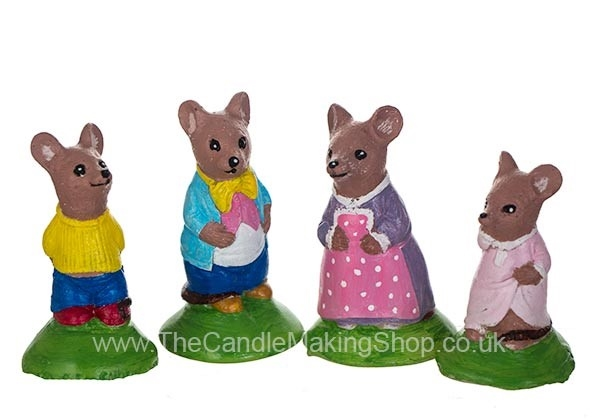 Picture of Latex Mould - Mouse Family (Set of 4 Moulds)