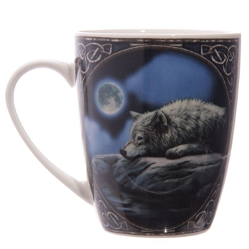 Picture of Lying Wolf - Bone China Mug