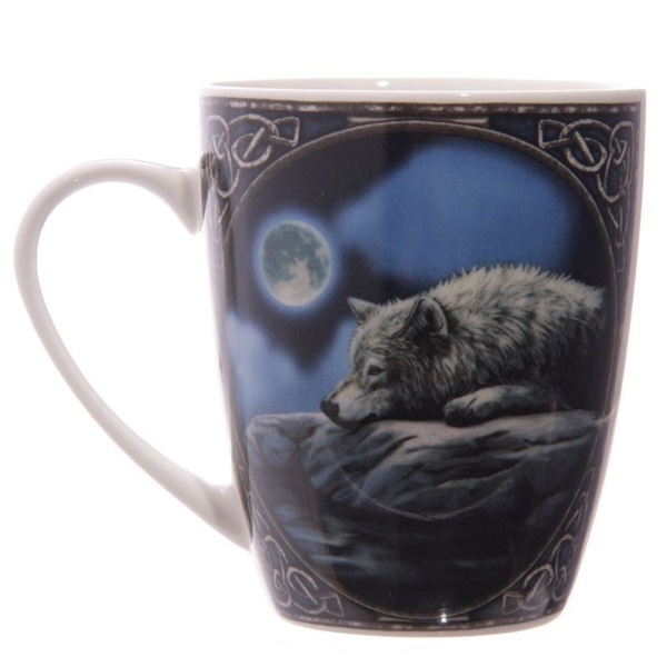 Picture of Lying Wolf - Bone China Mug