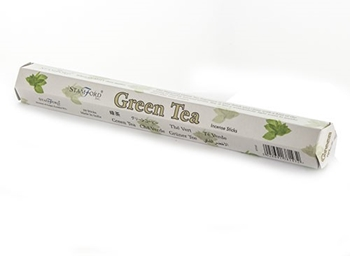 Picture of Green Tea Incense Sticks - Hexagonal Box
