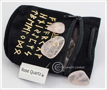 Picture of Rose Quartz Gemstone Runes (Flat)