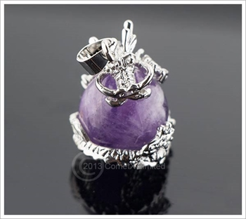 Picture of Dragon Orb Pendant - Amethyst