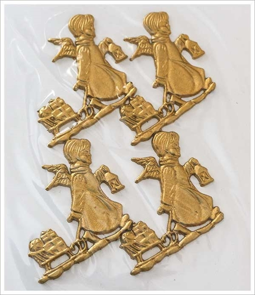 Picture of Applique Decoration - Angel With Sledge