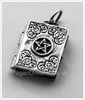 Picture of Pentacle Book Of Shadows Locket - Sterling Silver