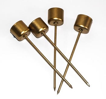 Picture of Taper Candle Pick (Gold) - Pack  4
