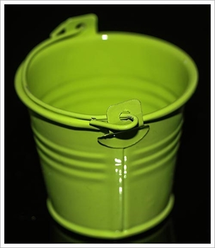 Picture of Metal Bucket (Galvanised) - Small (Lime Green)