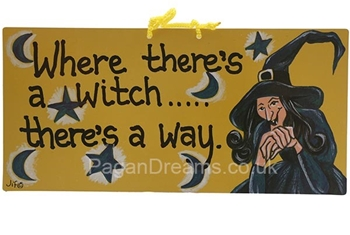 Picture of Smiley Sign - Where There's A Witch