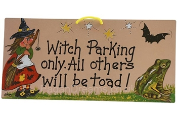 Picture of Smiley Sign - Witch Parking Only