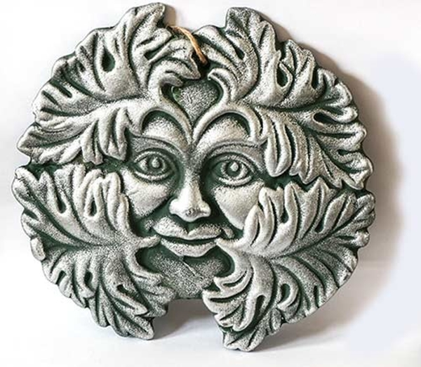 Picture of Green Man Plaque (Silver Finish)