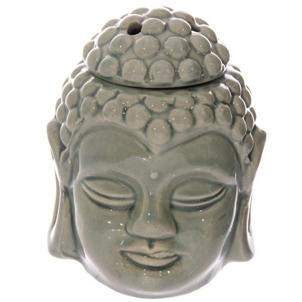 Picture of Thai Buddha Head Oil Burner - Sage Green (A)