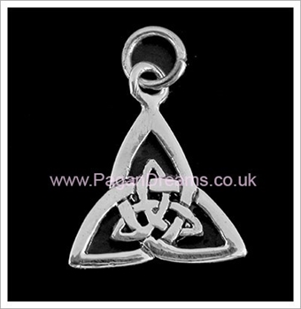Picture of Double Triquetra CharmPendant - Sterling Silver