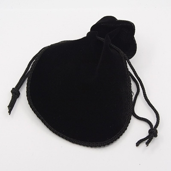 Picture of Mock Velvet Pouch - Black