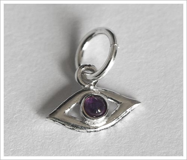 Picture of Evil Eye Charm (Amethyst) - For Protection