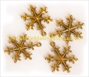 Picture of Snowflake Charm - Antique Gold (Pk 10)