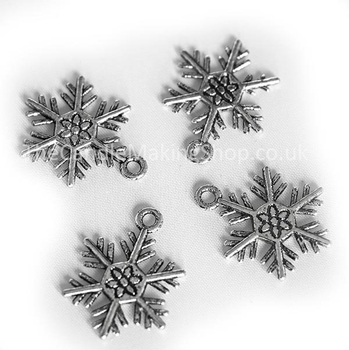 Picture of Snowflake Charm - Antique Silver (Pk 10)