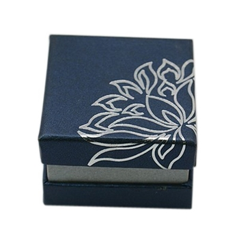 Picture of RingEarring Box - Lotus (Midnight Blue)