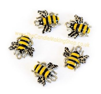 Picture of Bumble Bee Charms (Enamelled) - Pk 10